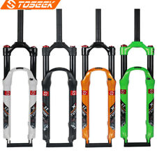 Toseek 1-1/8 Rigid Mountain Bike Straight Tube Air Fork Gravel Suspension Forks