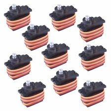 10Pcs MG90S Metal Geared Micro Servo Motor 9G For Helicopter Airplane Boat Contr