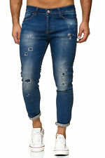 Redbridge Pantaloni Denim Jeans Uomo Slim-Fit Strappato Painted Destroyed Zombie