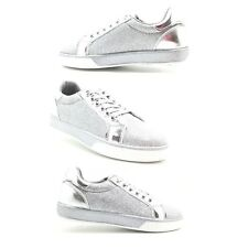SHOES SNEAKERS Woman LOW Gym Casual SPORTS SILVER / GOLD