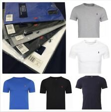 RALPH LAUREN Men's Polo T-Shirt crew neck short sleeve 100% cotton