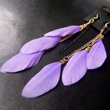 Feather Earrings Fashion Jewelry Exotic Dangle Tassel For Women Girl Accessories