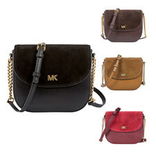 Michael Kors Leather and Suede Saddle Bag - Choose color