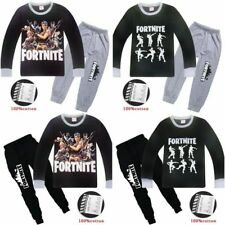 Boys Fortnite Pyjamas Kids Tracksuit Outfit T-Shirt Bottoms Ages 6-13 Christmas