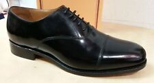 Barker Mens Stunning Luton Leather Shoes In hi shine Black