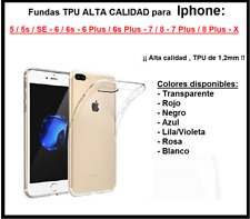 Funda TPU alta calidad 1,2mm Iphone 5 5S SE 6 6S 6 Plus 7 8 7 Plus 8 Plus X