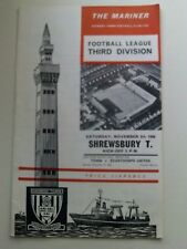 Grimsby Town  Football Programmes - 1960's  - Various Fixtures