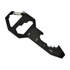 Multifunction Steel Wrench Keychain Bottle Opener Cutter Screwdriver EDC Tools