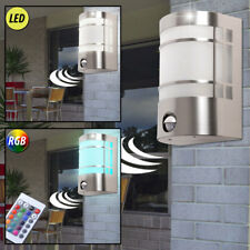Led Exterior Aplique de Pared RGB Mando a Distancia Acero Inox. Movimiento