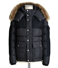 New AW18 Moncler Alphand Down Fur Jacket - Black