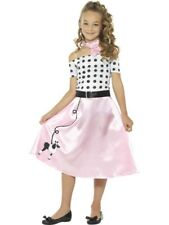 Girls 1950s Poodle Girl Costume - Kids 1950s Style Diner Fancy Dress Outfit