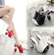 Ladies Summer Peep Toe Platforms Sandals Fashion Casual High Heel Slippers Shoes