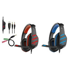3X(Beexcellent Auriculares GM-3 Pro Wired Gaming con microfono, luces LED yV6H4)