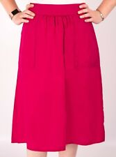 Ladies Skirt Linen Cotton Pink New Midi Famous Store New Summer Womens
