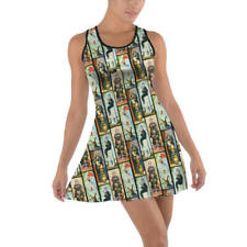Haunted Mansion Stretch Paintings Cotton Racerback Dress XS - 5XL