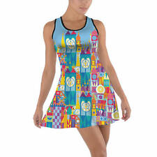 Its A Small World Disney Parks Inspired Cotton Racerback Dress XS - 5XL