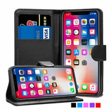 iPhone X Leather Wallet Case Folio Cover Card Slots Stand Luxury Magnetic Flip
