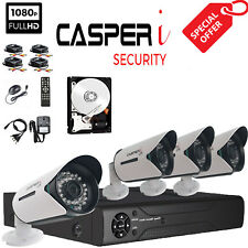 4CH 1080P CCTV DVR with CASPERi Bullet Security Camera Video Recorder System Kit
