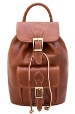 "LEATHER BACKPACK / ZAINO IN CUOIO ""MATISSE"""