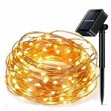 Light Led String Copper Wire Solar Powered Fairy Xmas Outdoor Party Decor 10M