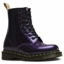 Dr Martens Vegan 1460 DARK PURPLE CHROME PAINT METALLIC