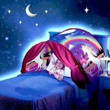 Deluxe Unicorn Dream Tents Kids Girl Foldable Pop up Bed Tent Indoor Play Camp