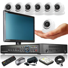 7 x Ultra Compacted Camera Full D1 8 CH DVR CCTV System Motion Detection Monitor