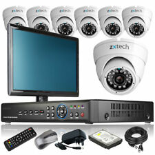 7 x Day Night Camera HD-MI 8 Channel DVR CCTV Kit Motion Detection with Monitor