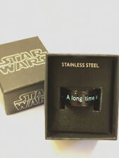 "STAR WARS Jewelry ""A Long Time Ago..."" Black-Plated Spinner Ring, Size 11, 14,15"