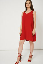 Ladies Red Dress With Side Pockets - Womens Casual Summer Dress