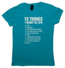 10 Things, Womens Funny Biker T Shirt - Gift Her Mothers Day Bikes Motorcycle