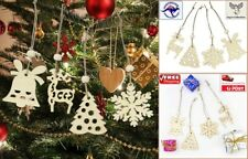 4 / 6 Pcs Christmas Wooden Pendants Ornaments XMAS Party Decorations [B1V~D15]