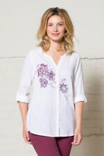 75% OFF SALE Nomads - Embroidered Boho Style Cotton Shirt - EN45 - Fair Trade