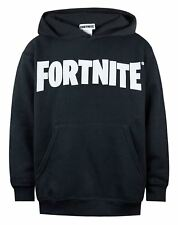 Fortnite Logo Boys Black Hoodie Kids Official Battle Royale Hooded Sweater