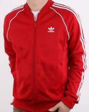 Adidas Originals Superstar Track Top in Power Red - tracksuit jacket