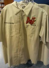 Universal studios Simpsons Duff Beer quality control button down shirt NEW