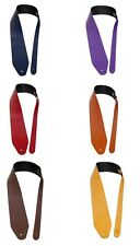 XL Leather Guitar Strap Extra Long Bass Guitar Various Colors Genuine Leather