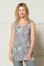 50% OFF HUGE SALE - Nomads Printed Tunic Vest in Cotton, size 8 - LN42 FairTrade
