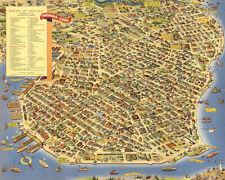 A Pic-Tour Map of Havana. Where to go - What to do- How to see 1952