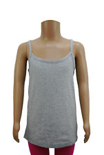 Girls Alive Vest Camisole Top Soft Cotton Grey Age 7 to 12 Years Kids C11.8