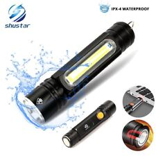 Multifunctional LED Flashlight USB Inside Rechargeable Battery Powerful T6