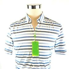 Hugo Boss Green Label Beltrame Slim Short Sleeve Button Down Shirt Mens M/XL NWT