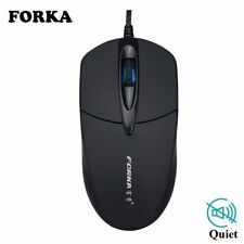 FORKA USB Wired Computer Mouse Silent Click LED Optical Mouse Gamer PC Laptop