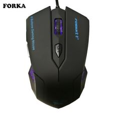 Silent Frosted Ergonomics 2400dpi Adjustment USB 6D Wired Optical Computer Mouse