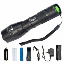 Zoomable 50000LM XM-L T6 LED Tactical Flashlight Torch Camping Lantern Lamp