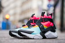 AUTHENTIC  NIKE Air Huarache City Aqua Black Racer Pink AH6787 400 Women size