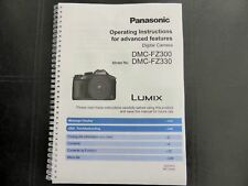 Panasonic lumix fz72 camera printed user manual guide handbook 226.