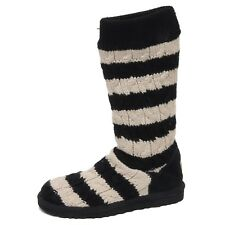 F0192 (NO BOX) stivale donna black/ivory UGG scarpe wool/suede boot shoe woman