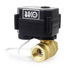"BACOENG 1/2"" DN15 Brass BSP 2 Port Motorized Valve (AC/DC9-24V CR04 Two Wires No"