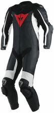 New Dainese Black/White/Red One Piece Leather Motorbike Race Suit EURO 48 SIZE